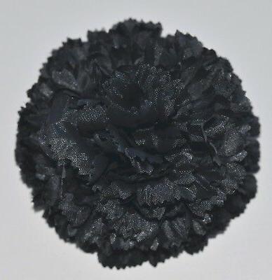 3 5 gothic black carnation silk flower