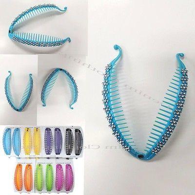 3 6sets 12pcs banana hair clips fish