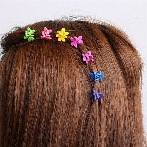 30*Mix Colored Girls Baby Flowers Hairs Claw Clip Accessories