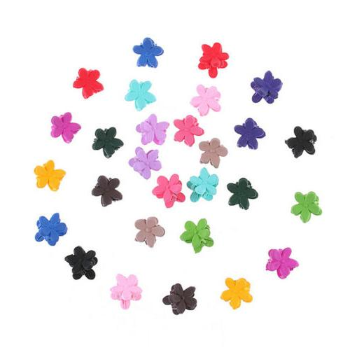 30*Mix Baby Flowers Hairs Claw Jaw Clip Accessories