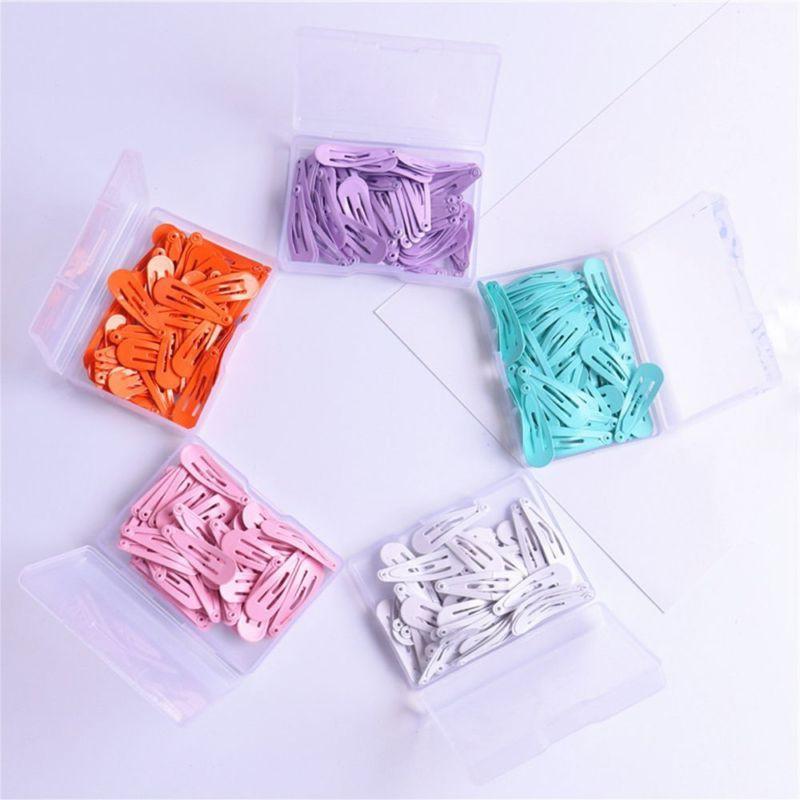 30PCs Women Color Paint Snap Clip Hairpin Barrette Gift
