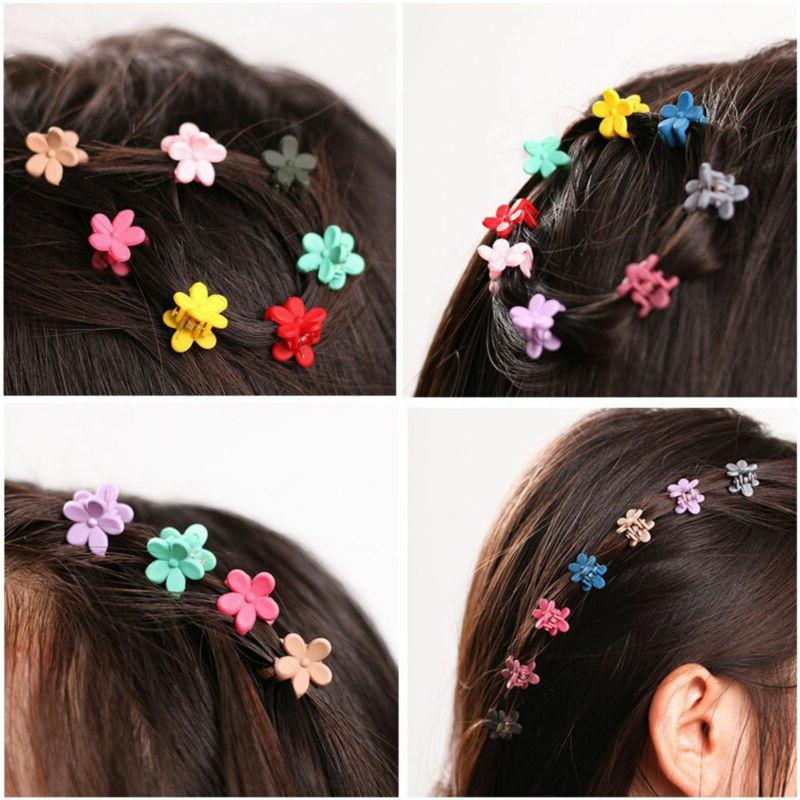 30 PCS Kids Baby Girls Candy Colour Hairpins Mini Claw Hair