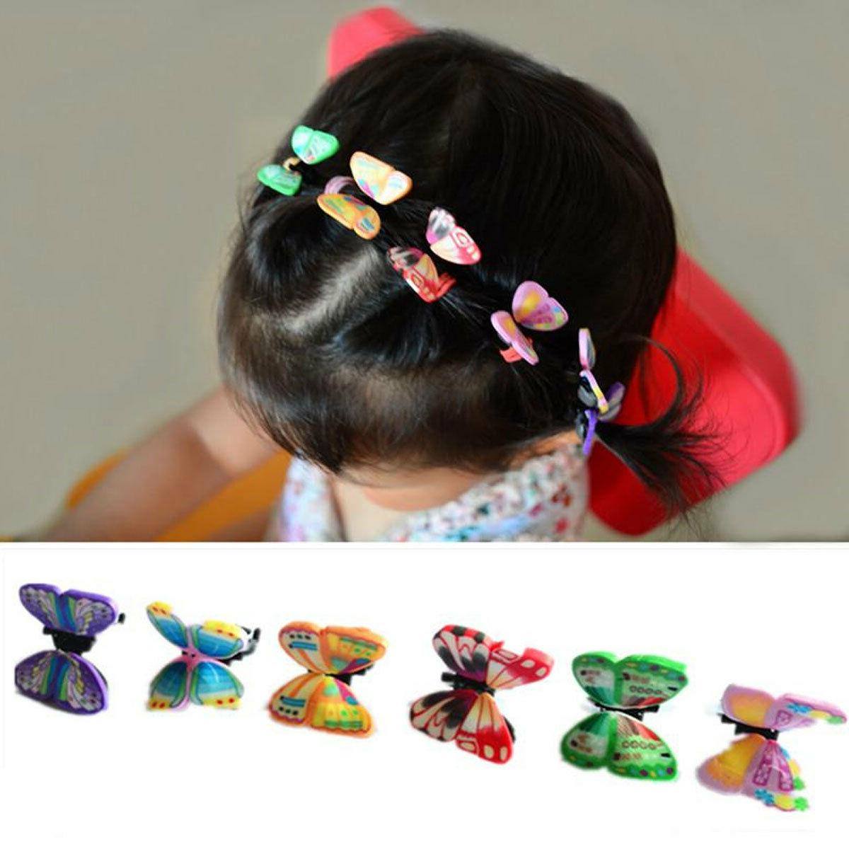 36pcs Color Butterfly Snap Clip Girl Baby Lot