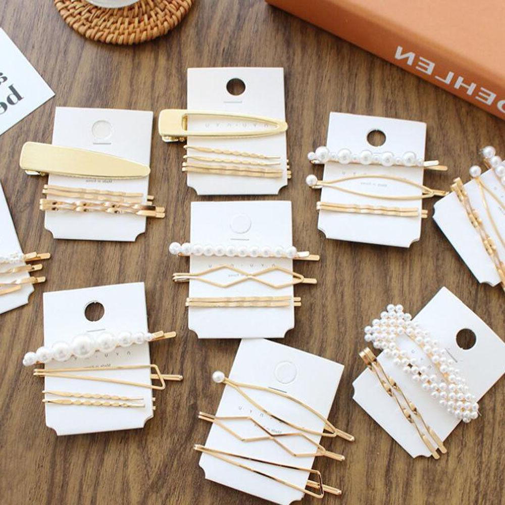 3Pcs Pearl Metal Clip Comb Bobby Pin Barrette Hairpin Headdress