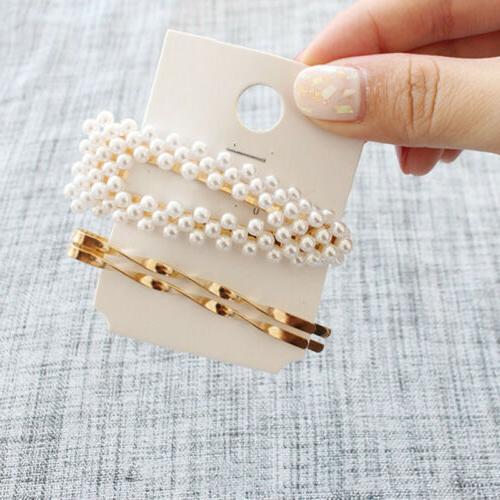 3Pcs/set Pearl Color Pin Barrette Hairpin US