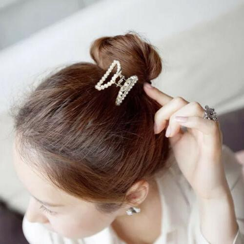 Women Girls Retro Gold Silver Metal Clip Barrette Hair