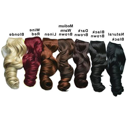 Full Wave Clips on Hair Extensions Women Clips Oz Piece - Natural Black
