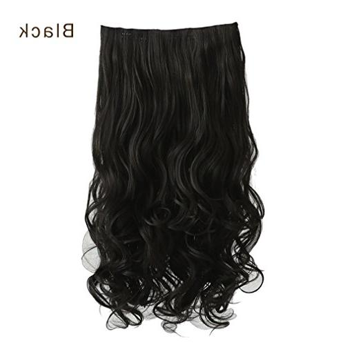 Full Head Clips Synthetic Hair Hairpieces for Women 5 Natural