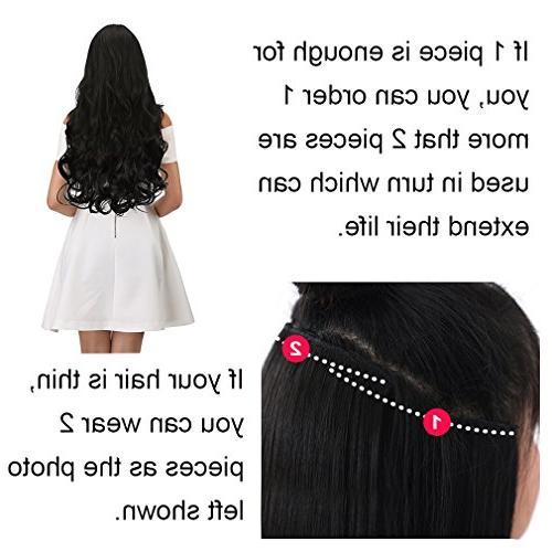 REECHO 3/4 Full Head Clips Hair Women Oz Piece Natural