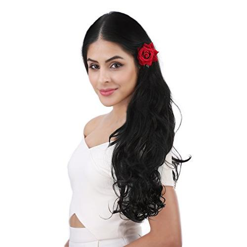 """REECHO 20"""" 1-Pack Full Curly Clips Hair Hairpieces Women Clips Oz Piece Natural"""