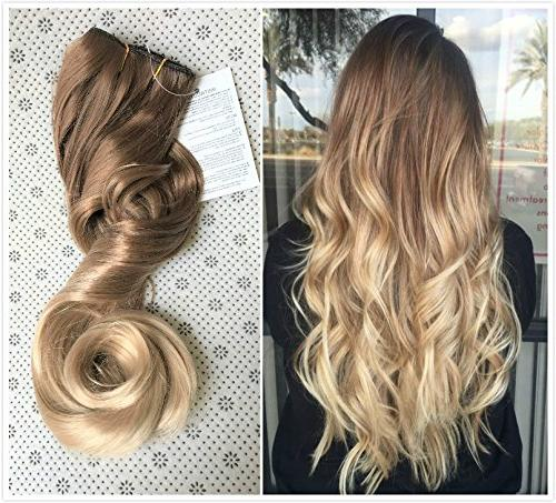 20 Inches 34 Full Head One Piece Ombre