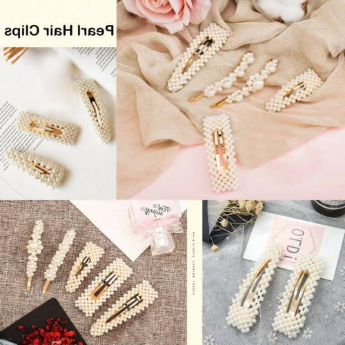 4 Hair Snap Barrette Pin Accessories Prom Wed