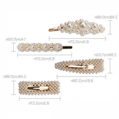 4 Pearl Snap Pin Hair Wed