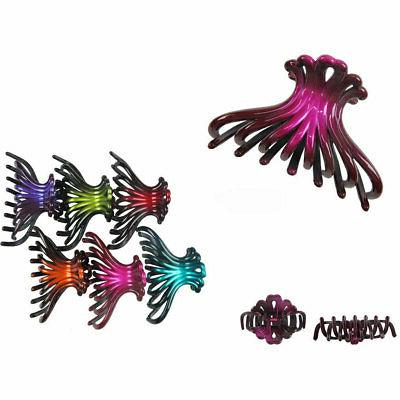 4 pieces Long Hair Claw 2-Tone Jaw Clips Comb Banana Hair Cl