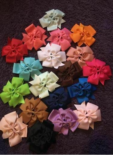 40 Pcs Lots Boutique Baby Girls Hair Bows Kids Alligator Women