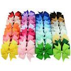 40 x Boutique Grosgrain Ribbon Pinwheel Hair Bows Attached W