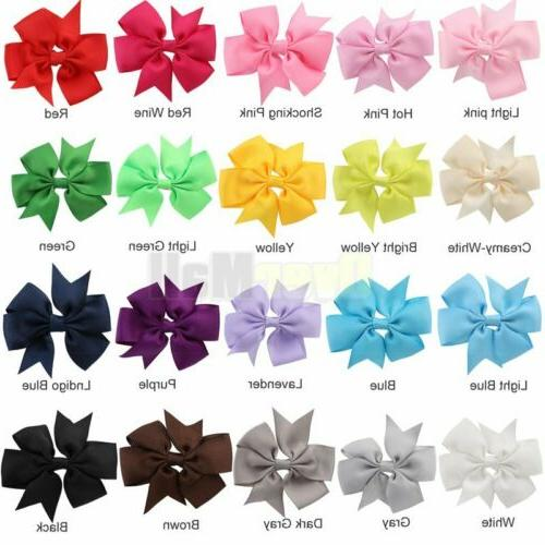 40Pc Boutique Hair Bows Alligator For In