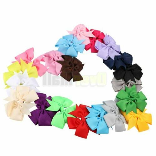 "40Pc Boutique Pinwheel 3"" Hair For Babies Toddlers Pairs"