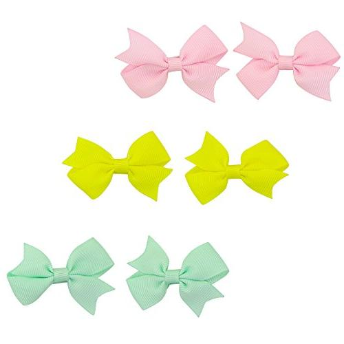 QtGirl 40pcs Hair Hair Bows with Clips for Girls Toddlers