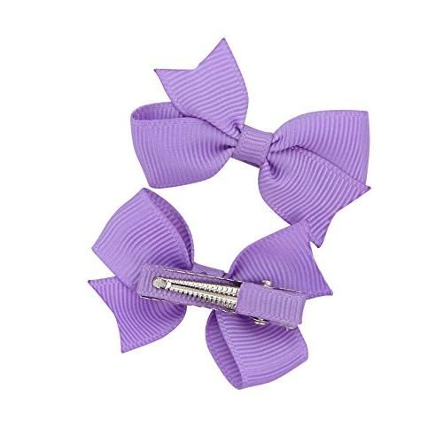 """QtGirl 40pcs 2"""" Mini Hair Hair Bows with Alligator Clips for Baby Girls Toddlers"""