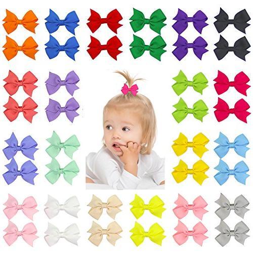 40pcs 2 mini hair bow grosgrain ribbon