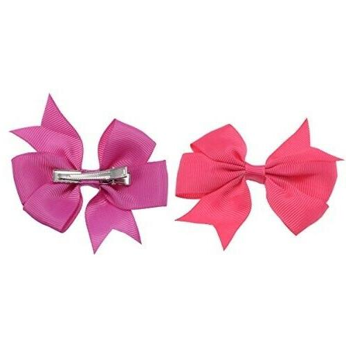 40pcs Pairs Ribbon Girls Hair Bows Alligator Clips