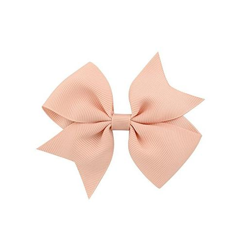 """40pcs Baby 2"""" Grosgrain Solid Color Mini Hair Bows Clips for Girls Teens Toddlers Children Set 20 pairs"""
