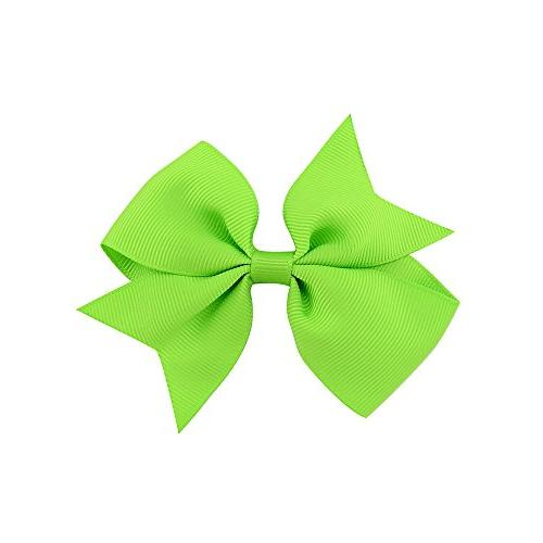 """40pcs Baby Girls Clips 2"""" Boutique Color Ribbon Bows for Girls Toddlers 20 pairs"""