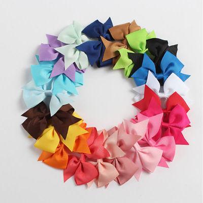 40pcs Kids Girls Children Toddler Flowers Clip Bow