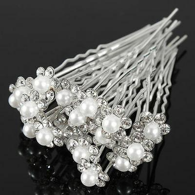 Bling Pearl Pins Clips