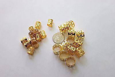 48PC Bead Cuff Filigree Gold Color