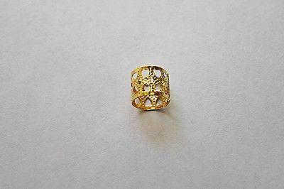 48PC Dreadlocks Cuff Gold Color 12MM