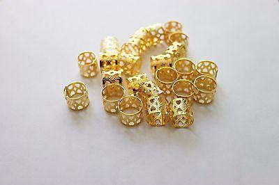 48PC Bead Cuff Clip. Filigree Gold