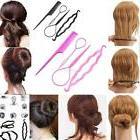 4pcs hair styling set clip bun maker