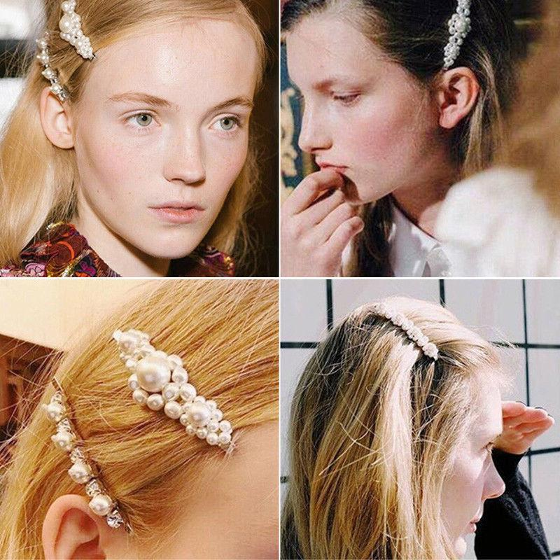 4Pcs Pearl Clip Hairband Comb Pin Hairpin