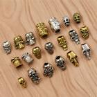 5/10Pcs Hair Braid Dread Dreadlock Beads Skull Design Punk C
