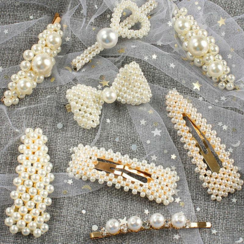 Fashion Pearl Hairband Barrette Hairpin