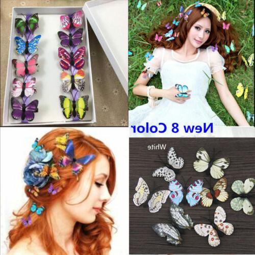 5x butterfly hair clips bridal hair accessories