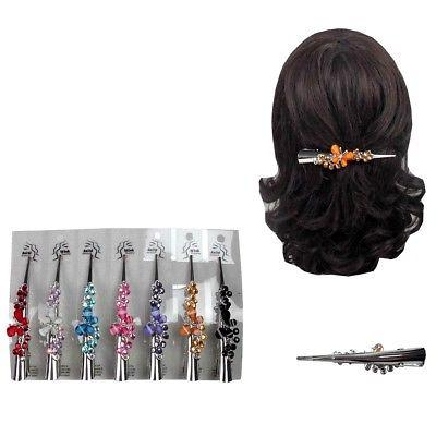 6 butterfly hair clip clamp metal alligator