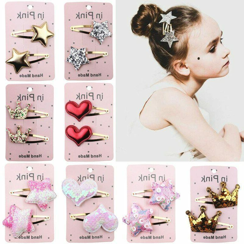 67color 2pc lovely children hair clips bb