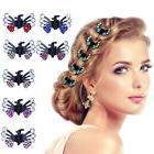 6pcs Bridal Mini Hair Clips Clamp Butterfly Claw Diamante Cr