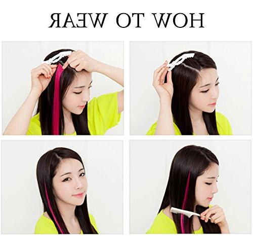 MQ Hair Wig Clip In/On Multi Hair Extensions Girls And Kids