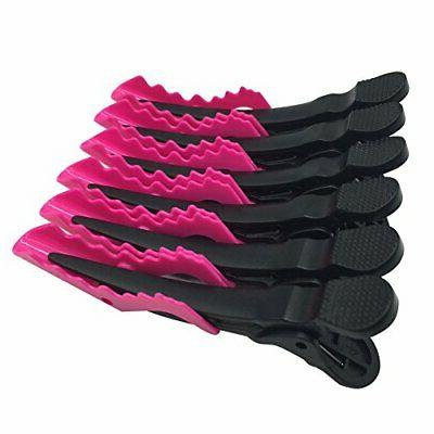 6pcs Salon Croc Styling Hair