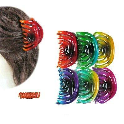 6pcs women s hair claw oval 3