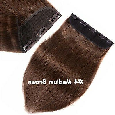 7A+ Queen Thick One Hairpiece Clip Real Human Extension 250g 300g
