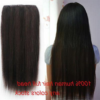 7A+ Thick One Clip Real Human Hair 250g 300g
