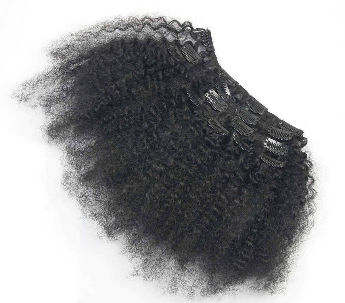 """8""""-18"""" Clip in Remy 100% Afro Curly ins 7pcs70g"""