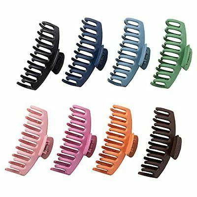 8 pcs big hair claw clips strong