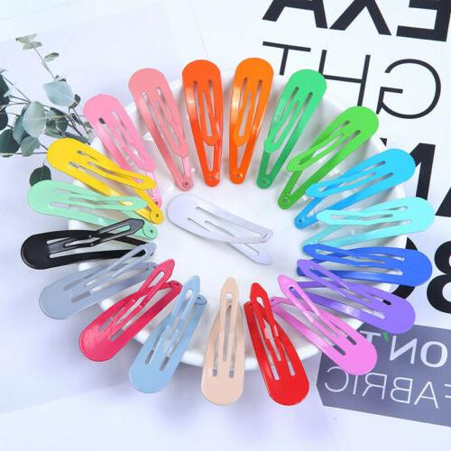 80Pcs/Pack Candy Color Snap Kids Girl Barrettes Clips
