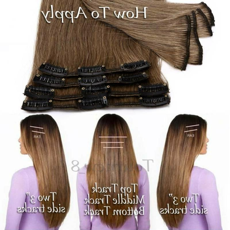"""8A In Extensions Full 8PCS 8""""-24"""" US"""